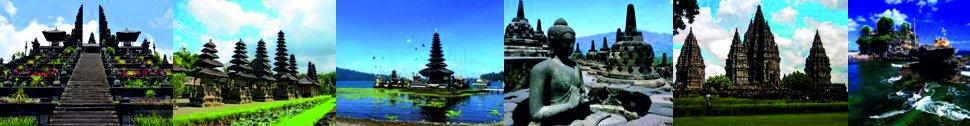 Besakih, Tanah Lot, Taman Ayun, Borobudur, Prambanan